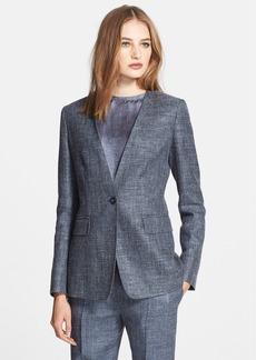 Max Mara 'Lampone' Silk & Linen Blend Jacket
