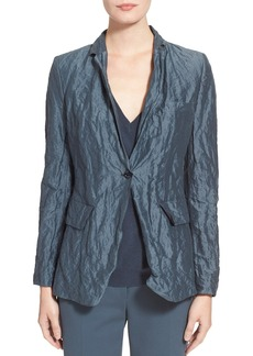 Max Mara 'Manual' Crinkle One-Button Jacket
