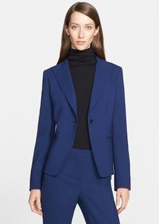 Max Mara 'Marus' One-Button Stretch Wool Jacket