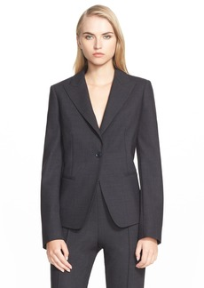 Max Mara 'Marus' One-Button Stretch Wool Jacket