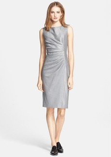 Max Mara 'Medusa' Ruched Seam Wool & Silk Dress