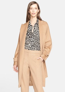 Max Mara 'Megaton' Camel Hair Wrap Coat