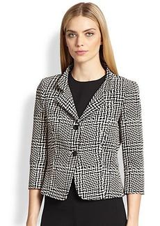 Max Mara Megaton Tweed-Print Jacket