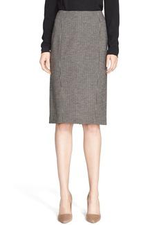 Max Mara 'Mida' Houndstooth Wool Jersey Skirt