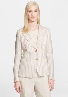 Max Mara 'Miglio' Pinstripe Linen Jacket