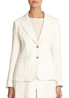 Max Mara Miglio Striped Linen Jacket
