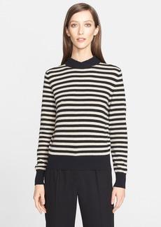 Max Mara 'Mirage' Striped Shawl Neck Sweater