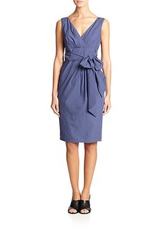 Max Mara Navale Tie-Front Dress
