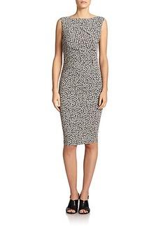 Max Mara Navata Cheetah-Print Dress