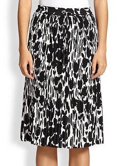 Max Mara Nostoc Textured Floral-Print Skirt