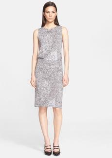 Max Mara 'Orense' Sleeveless Print Jersey Dress