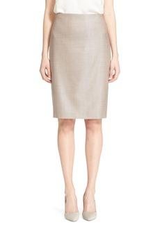 Max Mara 'Ovatta' Wool Blend Pencil Skirt