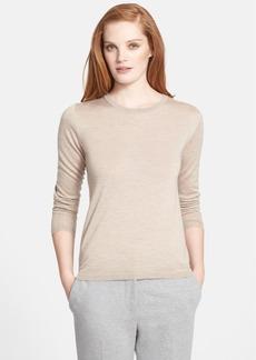 Max Mara 'Palmi' Silk & Cashmere Crewneck Sweater