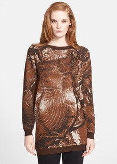 Max Mara 'Party' Long Jacquard Sweater