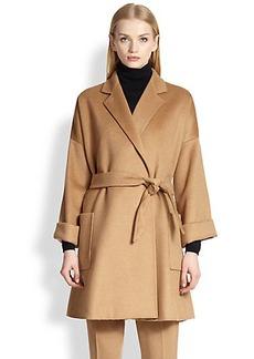 Max Mara Pelago Camelhair Wrap Coat