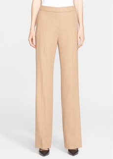 Max Mara 'Pescia' Wide Leg Camel Hair Pants