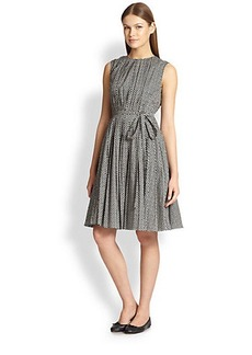 Max Mara Printed Pleat Dress