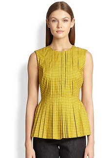 Max Mara Printed Pleat Top