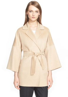 Max Mara 'Ravello' Cashmere Belted Wrap Coat