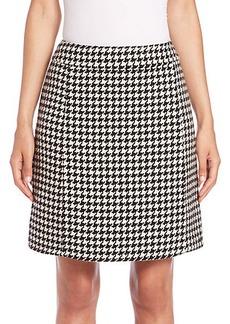 Max Mara Renza Tweed-Print Skirt