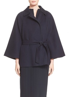 Max Mara 'Robinia' Belted Wool & Angora Coat