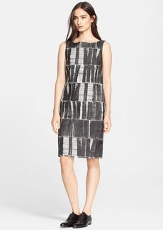 Max Mara 'Salvo' Cotton Blend Jacquard Shift Dress