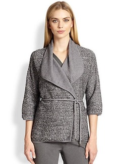 Max Mara Samara Tweed-Knit Wrap Jacket