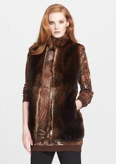 Max Mara 'Samovar' Genuine Rabbit Fur Vest