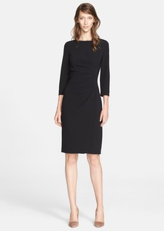 Max Mara 'Satira' Three-Quarter Sleeve Cady Dress