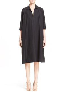 Max Mara 'Scacco' Cotton Poplin Trapeze Dress