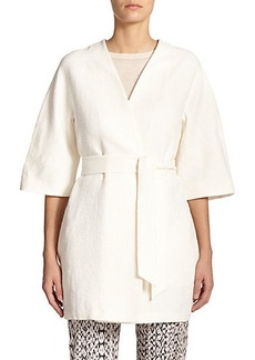 Max Mara Smalto Cotton & Linen Belted Jacket