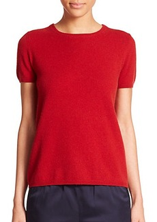 Max Mara Stampa Cashmere Short-Sleeve Sweater