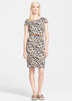 Max Mara 'Starlet' Leopard Print Jersey Dress