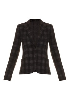 Max Mara Studio Checked wool-blend jacket