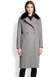 Max Mara Studio Mink-Collar Coat