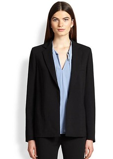 Max Mara Suma Stretch Wool Side-Slit Jacket