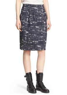 Max Mara 'Supremo' Abstract Print Stretch Jacquard Skirt