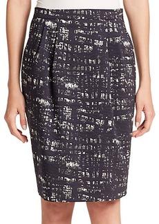 Max Mara Supremo Jacquard Pencil Skirt