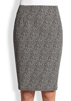 Max Mara Tweed Pencil Skirt
