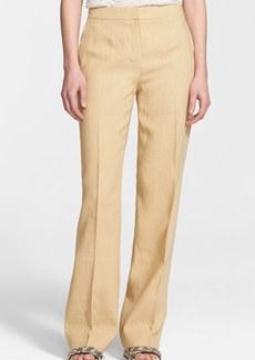 Max Mara 'Valvola' Full Leg Linen Trousers