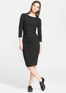 Max Mara 'Valzer' Ruched Jersey Dress