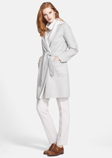 Max Mara 'Visone' Reversible Wool & Angora Wrap Coat with Belt