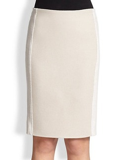 Max Mara Zaffo Wool Jersey Pencil Skirt