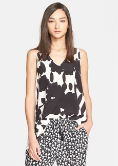 Max Mara 'Zampa' Abstract Print V-Neck Top