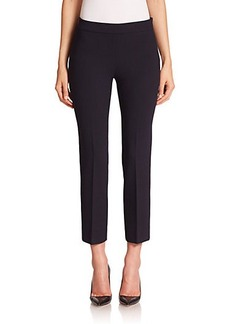 Max Mara Zucca Stretch Wool Cropped Pants