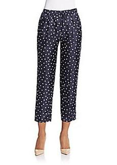 MaxMara Aligi Polka Dot Cropped Pants