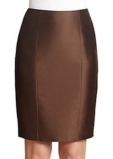 MaxMara Bastia Mikado Pencil Skirt