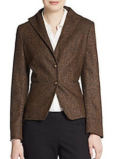 MaxMara Floria Two-Button Tweed Blazer