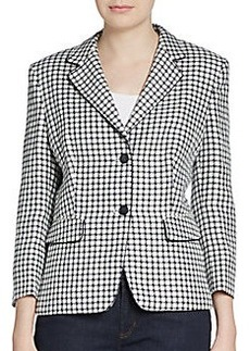 MaxMara Hodeida Two-Button Check Blazer