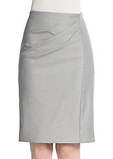 MaxMara Molveno Side-Pleat Pencil Skirt